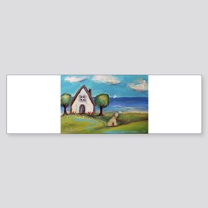 Soft Coated Wheaten Terrier Summer Cottage Bumper